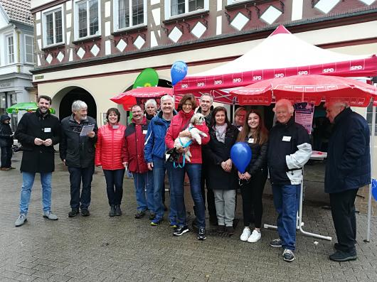 SPD-Team am Infostand